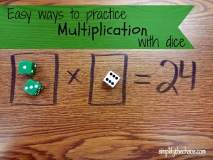 Easy ways to practice multiplication with dice