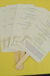 DIY Wedding Fan Programs