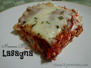 Momma B's Lasagna Slice