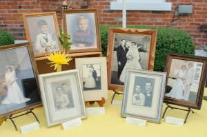Photos of parents and grandparents weddings on display