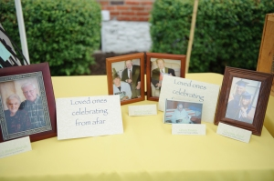 Table remembering loved ones who can't make it to your wedding