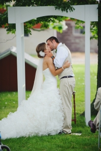 simple white wedding arch
