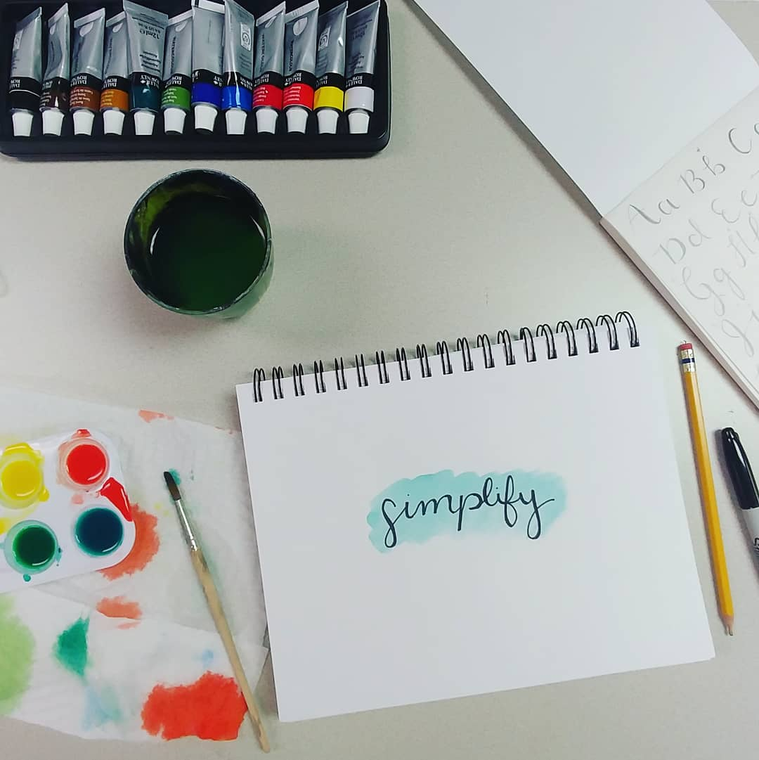 Simplify the Chaos - calligraphy art class