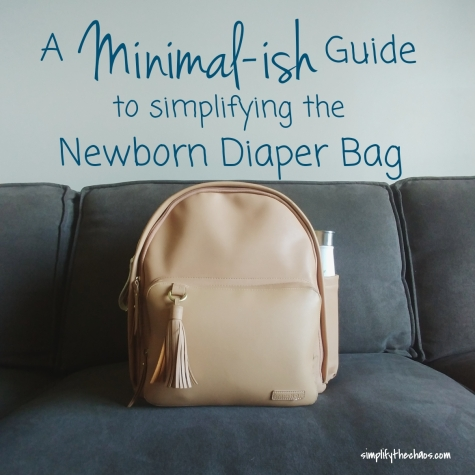 Tips for Simplifying a newborn's Diaper Bag