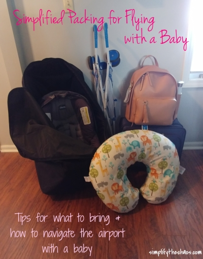 Packing Tips for Flying with a Baby