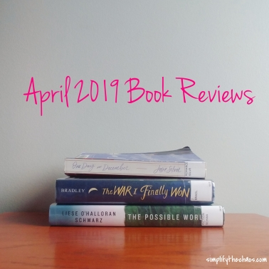 April Book Reviews - Simplify The Chaos Blog