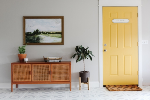 Modern, Bright Entryway Makeover